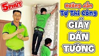 Download Hướng dẫn cách tự thi công dán Giấy Dán Tường nâng cao - tintam.vn Video