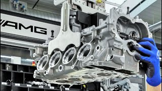 Download Mercedes AMG 4-Cylinder Turbo Engine For CLA 45 AMG Production in Affalterbach Germany Video