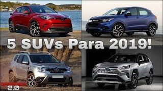 Download 5 SUVs Que Serão Lançados no Brasil em 2019! (Garagem 2.0) Video