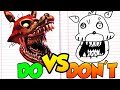Download DOs & DON'Ts Drawing Five Nights At Freddy's Twisted Foxy In 1 Minute CHALLENGE! Video