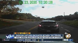 Download Local driver believes incident caught on dashcam was insurance scam Video