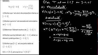 Download Les structures algébriques : Exercice 1 Video