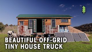 Download Beautiful 85% Recycled Off-Grid Tiny House Truck Video