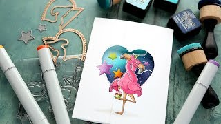 Download Twist Ties from Art Impressions! Flamingo Birthday Card Video