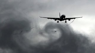 Download STORM   STUNNING Waterspray & Vortices ● Melbourne Airport Plane Spotting Video