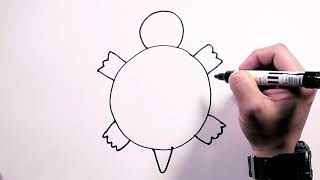 Download How to Draw Sea Turtle - Draw Easy | Freehand Easy-to-Follow Drawings Video