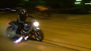 Download Turbo Suzuki GSX 1100 Burnout and Epic Flames!! Video