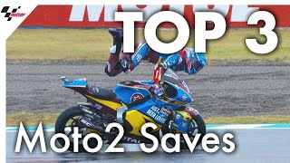 Download Top 3 spectacular saves in Moto2 from 2019 Video