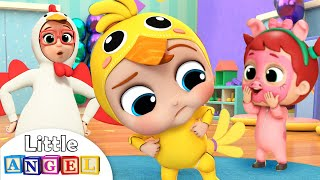 Download Baby John Does the Chicken Dance | Little Angel Nursery Rhymes & Kids Songs Video