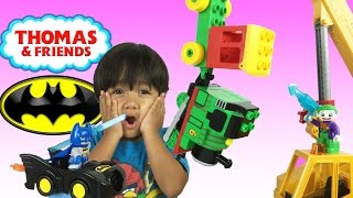 Download Ryan plays with Thomas & Friends and Lego Duplo Toy Trains Video