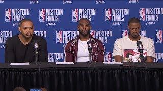 Download CP3, Eric Gordon & Ariza Postgame Interview - Game 2 | Warriors vs Rockets | 2018 NBA West Finals Video