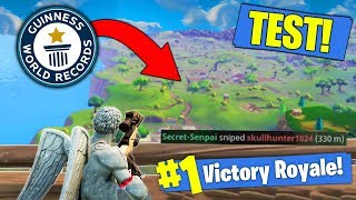 Download What Is The LONGEST POSSIBLE Snipe In Fortnite? [TEST] Video
