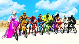Download LEARN COLORS BMX BIKES & LARGE BUS w/ Superheroes Fun Animation for Children Video