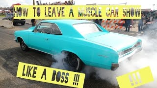 Download How to leave a Muscle Car Show like a BOSS!! ( Cars & Coffee ) ( Pure v8 Sound ) Video