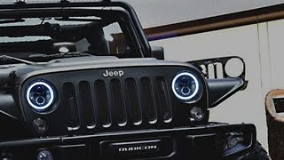 Download iJDMTOY Jeep Wrangler LED Headlights with Switchback Halo Rings Video