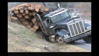 Download Ditched Kenworth Log Truck Recovery Video