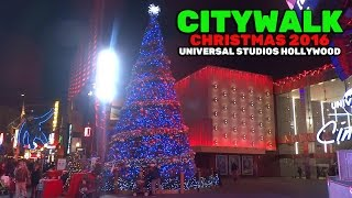 Download Universal CityWalk Christmas decorations and lights at Universal Studios Hollywood 2016 Video