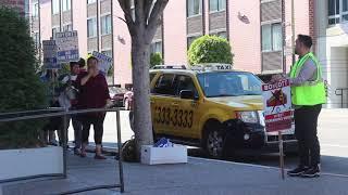 Download Hyatt Hotel workers strike, Fishermans Warf, San Francisco Video