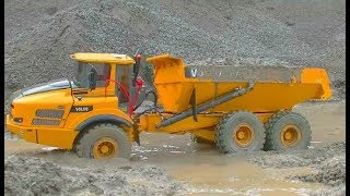 Download RC BEST OF! BEST OF VOLVO A45G! RC VOLVO DUMP TRUCK IN THE MUD AND WATER! FANASTIC RC MODEL Video