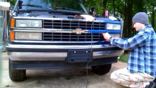 Download how to polish / buff headlights clear 1992 silverado Video