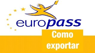 Download Como exportar o Cv Europass Video