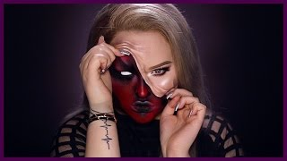 Download DEMON - Pulled Up Skin Halloween Makeup Tutorial Video