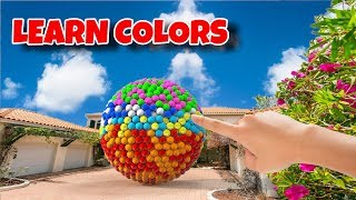 Download Learn Colors with Sphere and Pyramid Shape and A lot of 3D Color Balls for Kids Children Toddlers Video