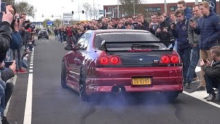 Download Supercars Leaving Car Meet! Skyline R33 GTS-T, Aventador, RS6, GT3RS.. Video