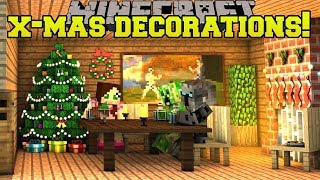 Download Minecraft: CHRISTMAS DECORATIONS! (CHRISTMAS SONGS, LIGHTS, WREATHS, & MORE!) Mod Showcase Video