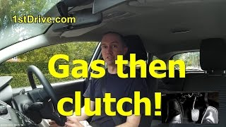 Download Why you need gas THEN clutch to move off in a car Video