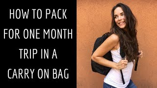 Download HOW TO PACK efficiently and EXTRA LIGHT for ONE MONTH trip | Hand luggage only Video