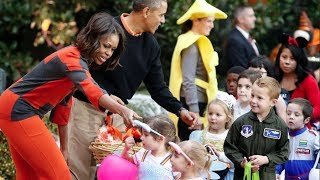 Download Halloween at the White House as Barack and Michelle Obama welcome trick-or-treaters Video