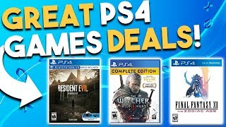 Download 10 GREAT PS4 Game Deals Available RIGHT NOW! (Best Playstation 4 Game Deals) Video