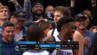 Download Luka Dončić 11 Straight Clutch Points to Steal a Win Over Rockets! WOW! Video