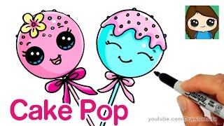 Download How to Draw Cake Pop Easy - Cute Cartoon Food Video