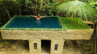 Download Building Most Beautiful Bamboo Swimming Pool On The Villa House By Ancient Skill Video