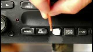 Download Worn peeling automotive radio buttons. Easy repair Video