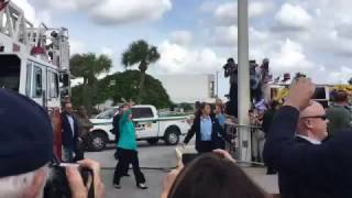 Download Hillary has trouble mounting a single step in Lake Worth, Florida Video