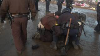 Download Raw: Pipeline Protestors Clash With Police Video
