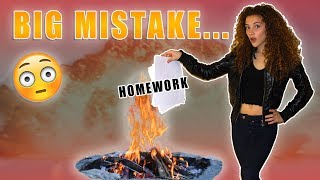 Download I BURNED ALL MY HOMEWORK... Video