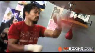 Download Manny Pacquiao ATTACKS THE SPEED BAG LIKE A WARRIOR! 4/9/11 Video