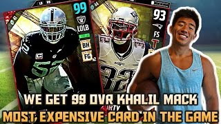 Download WE GET 99 OVR KHALIL MACK! MOST EXPENSIVE CARD IN THE GAME! MADDEN 17 ULTIMATE TEAM Video