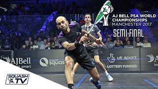 Download Squash: Farag v Ma. ElShorbagy - AJ Bell PSA World Champs 2017 Semi-Final Highlights Video