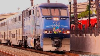 Download Amtrak Trains & A Coaster in San Diego, CA (August 18th, 2013) Video
