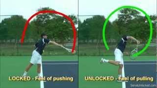 Download Tennis Serve Racquet Path - Linear vs Circular Video