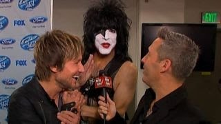 Download In the FOXlight: Keith Urban Gets a Surprise Visit From Paul Stanley of KISS Video