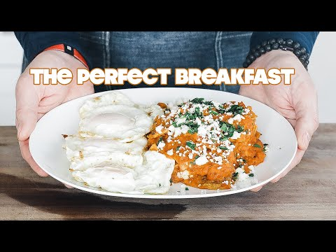 Homemade Chilaquiles Recipe (Rojos Style) + Fried Eggs