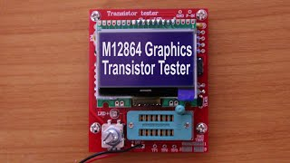 Download M12864 Graphics Transistor Tester from Banggood, Part 2: Review Video