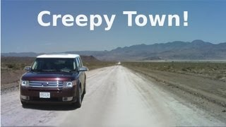 Download Strange Creepy Town Near Area 51 - Semi Abandoned Town in Nevada Desert - The REAL Loneliest Road! Video