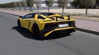 Download Lamborghini Aventador SV Roadster LP750-4 Test drive تجربة لامبورجيني أفانتادور أس في رودستر Video